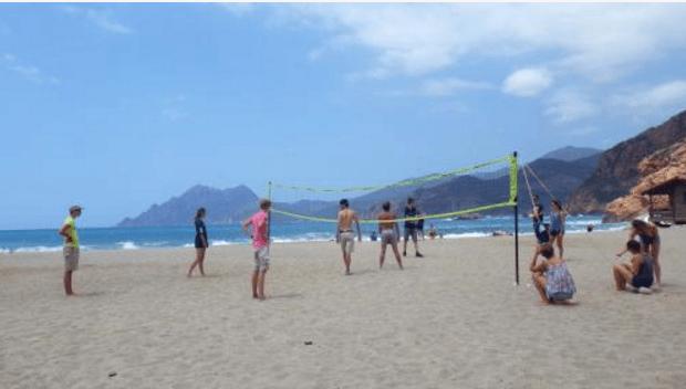 Volley sur la plage de Porto