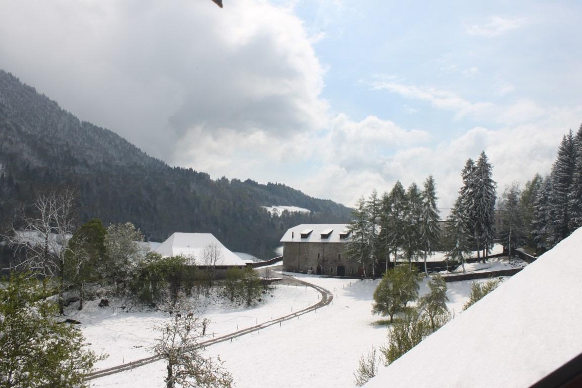 Tamié, sous la neige