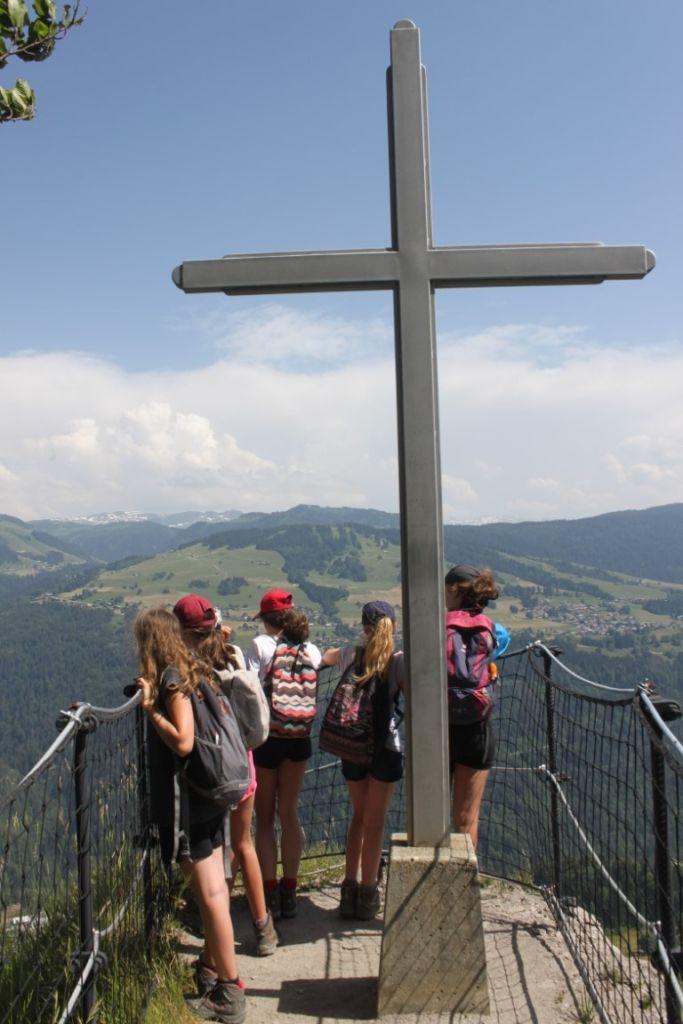La Croix de la Bèque lors de la première randonnée