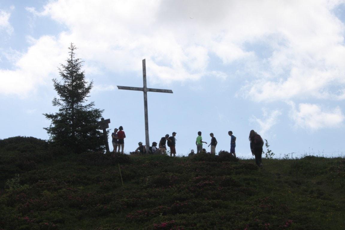 La Croix de Stata, lors de la seconde randonnée