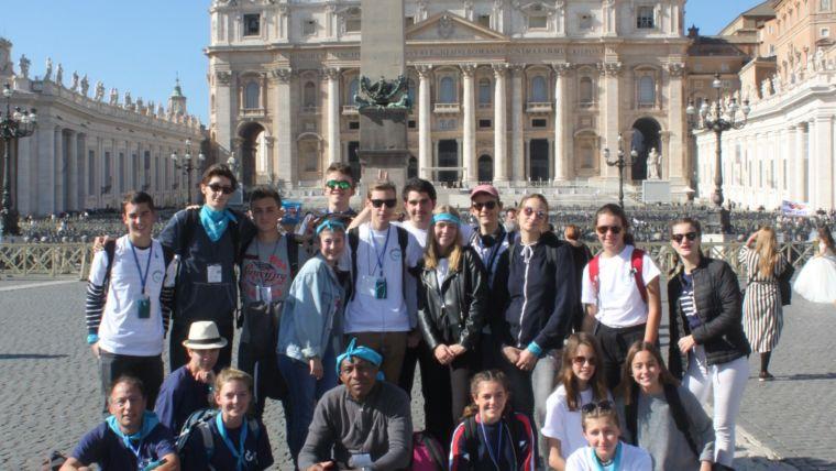 Pèlerinage des jeunes de l'aumônerie à Rome