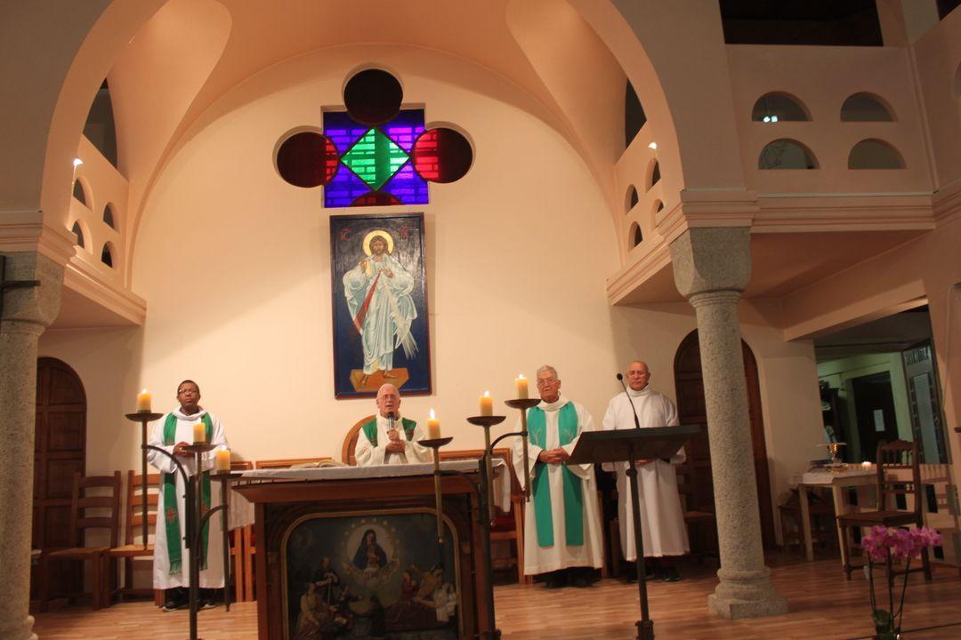 Messe pour clôturer cette belle journée à la Bénite Fontaine